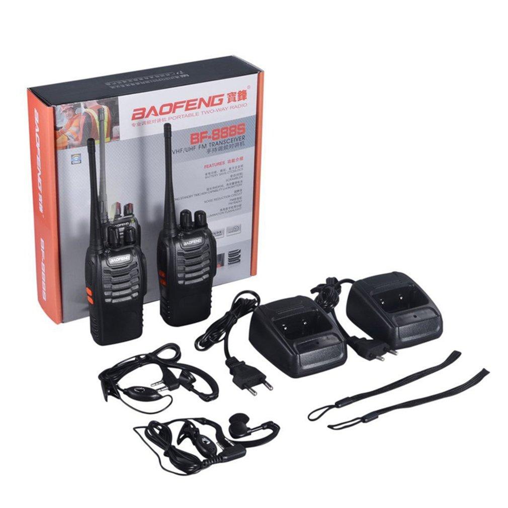 2 uds Baofeng BF-888S Walkie Talkie 5W radio de dos vías portátil CB Radio UHF 400-520MHz transmisor transceptor