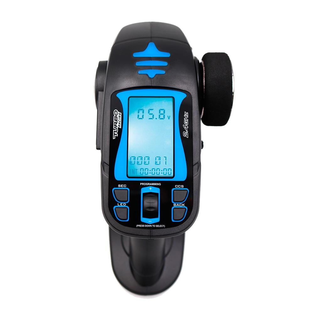 TURBO de TB-TX2 2,4 GHz FHSS Digital 7CH Radio transmisor de Control remoto con TB-RX200 receptor LCD LED para vehículo RC barco