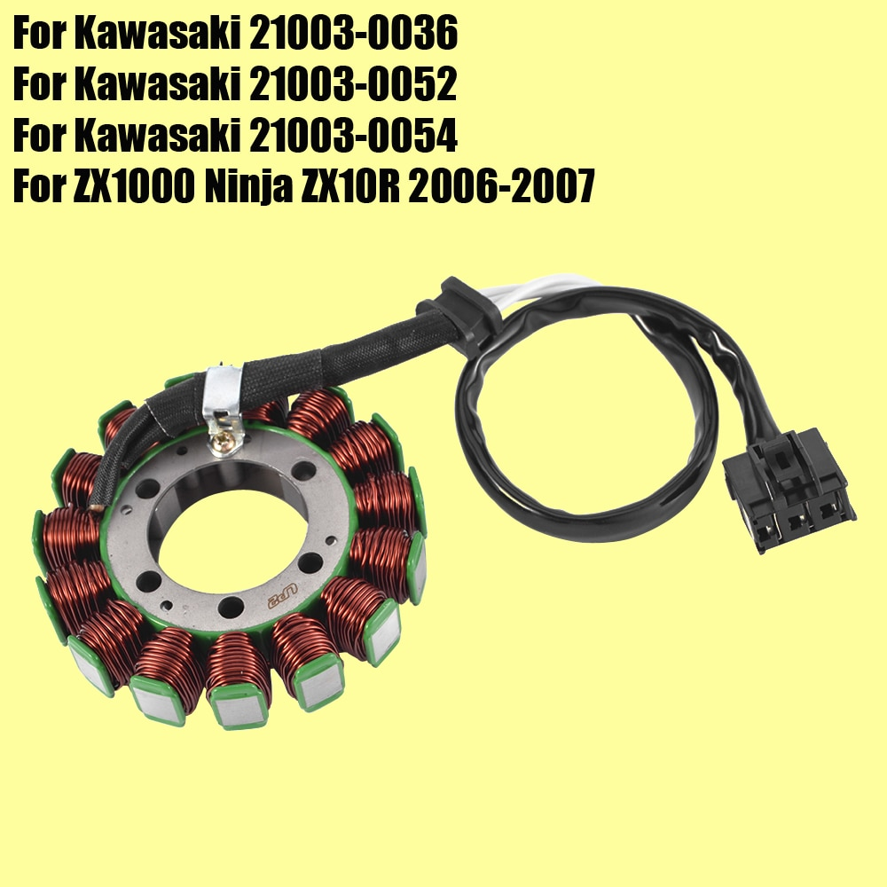 Stator Coil for Kawasaki Ninja ZX10R ZX1000 2006 2007 21003-0054 Motorcycle Generator Magneto Coil ZX 10R ZX-10R high speed motorcycle rotor magneto kits stator coil for yinxiang lying 150cc and 160cc engine motor accessories