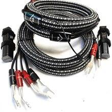 HiFi Audio K2 lautsprecher kabel freies update 72V DBS silber Banana spade stecker bi draht lautsprecher draht
