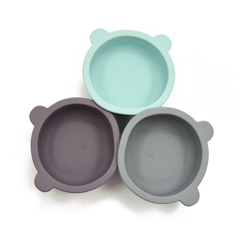 Новый дизайн силиконовые пластины для ребенка без добавления бисфенола А кормушки посуда столовый набор посуды для детей ясельного возрас...