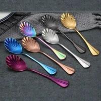stainless steel coffee spoon long handle teaspoon 2020 new vacuum plating coffee spoon rice spoon kitchen hot drink tableware