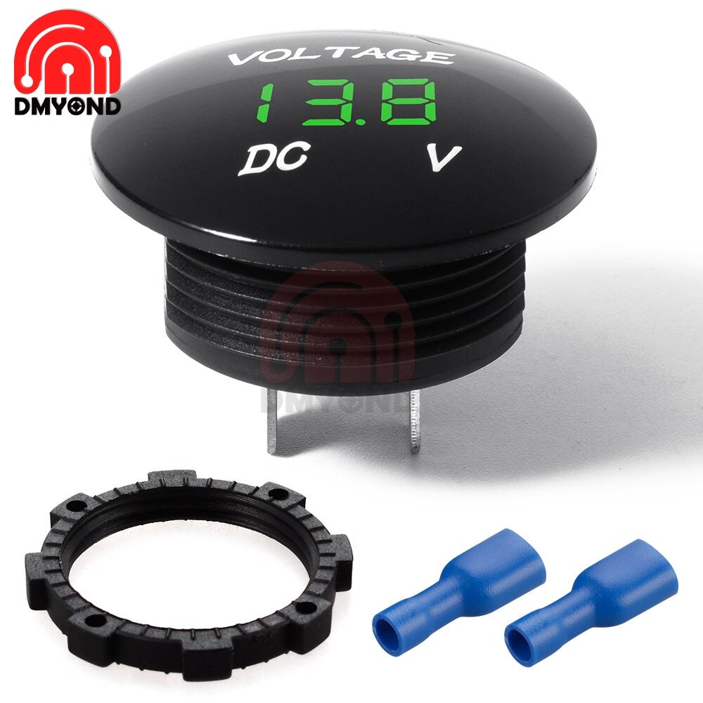 Цифровой вольтметр, амперметр постоянного тока 5в-48в для автомобиля и мотоцикла вольтметр амперметр 12v измеритель тока dc5v вольтметр цифрово...