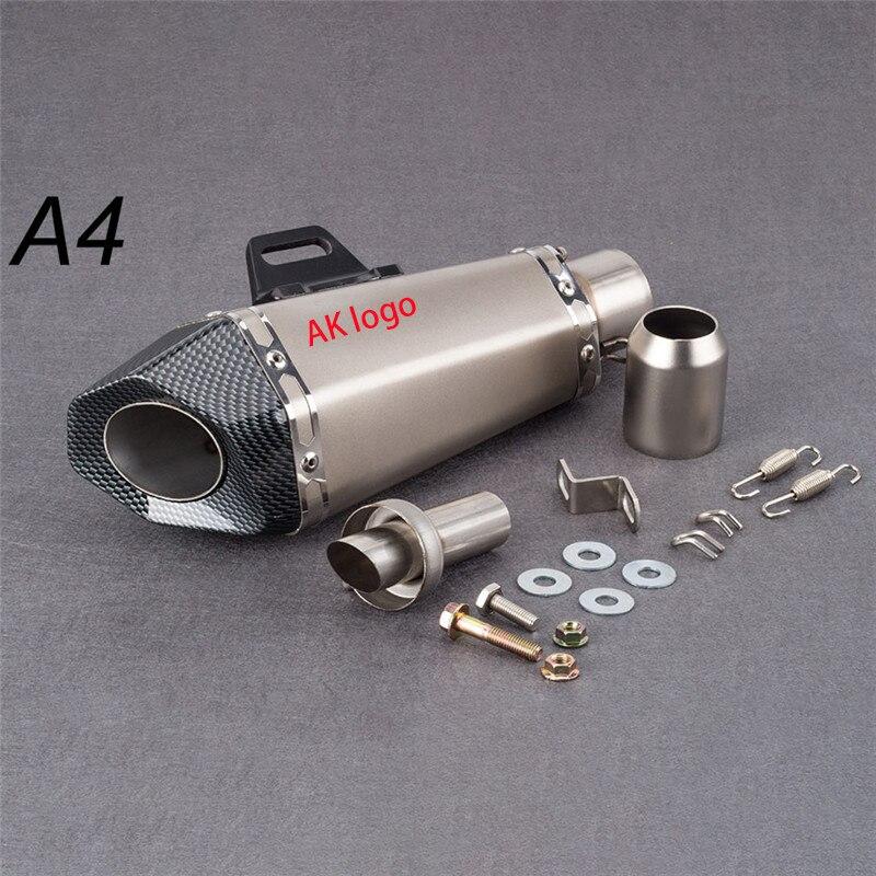Moto 51mm Motorcycle exhaust pipe muffler Yoshimura sticker exhaust with DB killer for Z900 MT09 KTM390 CBR1000 R6 FZ8 R25