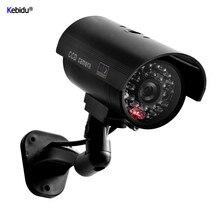 Fausse caméra factice balle étanche en plein air intérieur émulational sécurité CCTV Surveillance caméra clignotant LED vidéo pour la maison