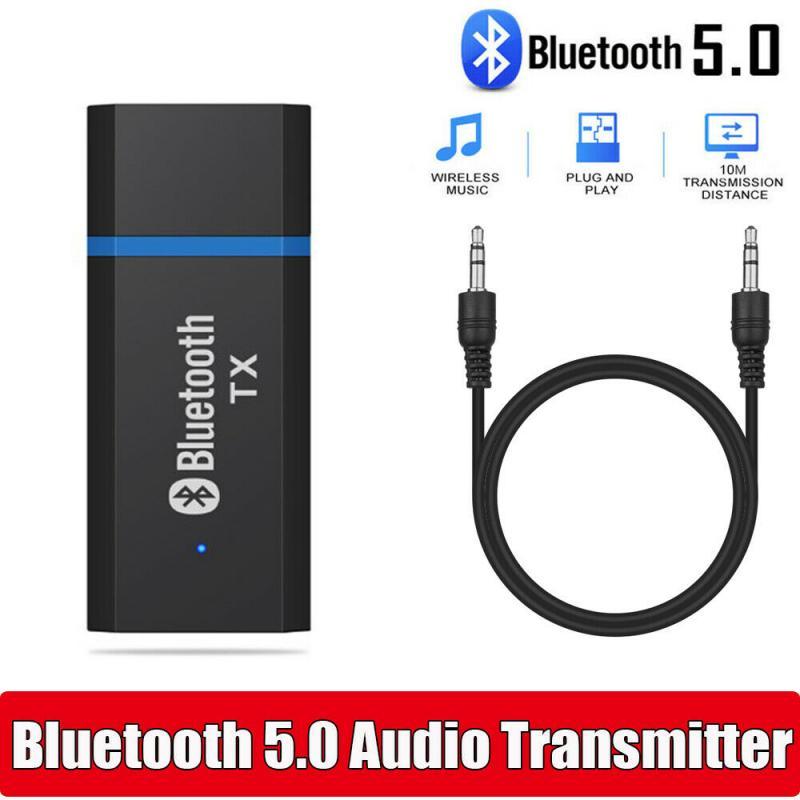 Transmissor Bluetooth 5.0 Adaptador De Áudio Para TV PC Adaptador USB Sem Fio de Música Estéreo Fones De Ouvido 3.5MM Jack AUX Plug & jogar