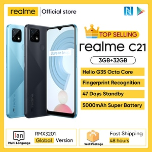 Realme C3 Unlockphone, 3 Гб оперативной памяти, Оперативная память 64 Гб Встроенная память Мобильный телефон MTK Helio G70 12MP Камера 6,5