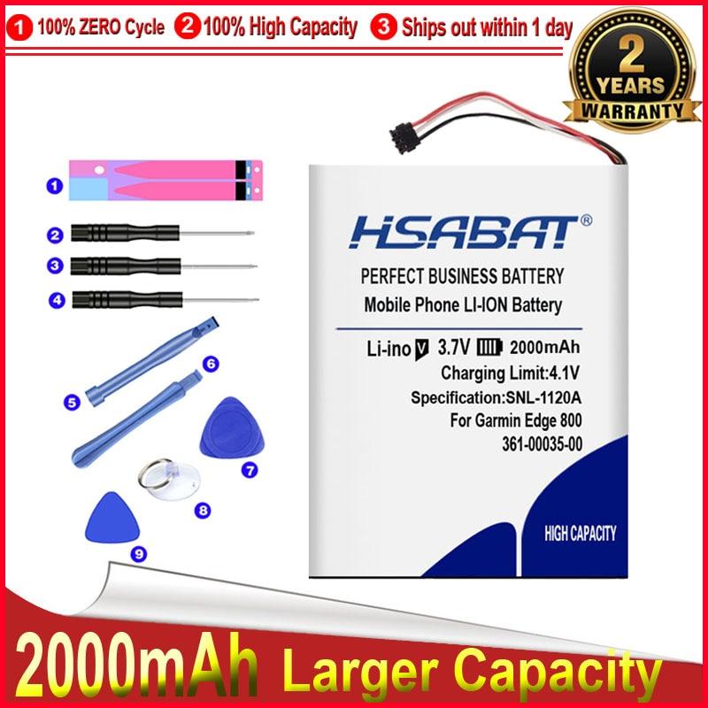 HSABAT 0 Cycle 2000mAh 361-00035-00 Battery for Garmin Edge 800 810 Accumulator