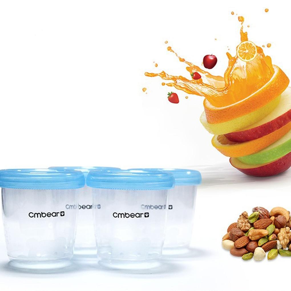 4 шт./компл. 180 мл чашка для хранения грудного молока детская пищевая чаша