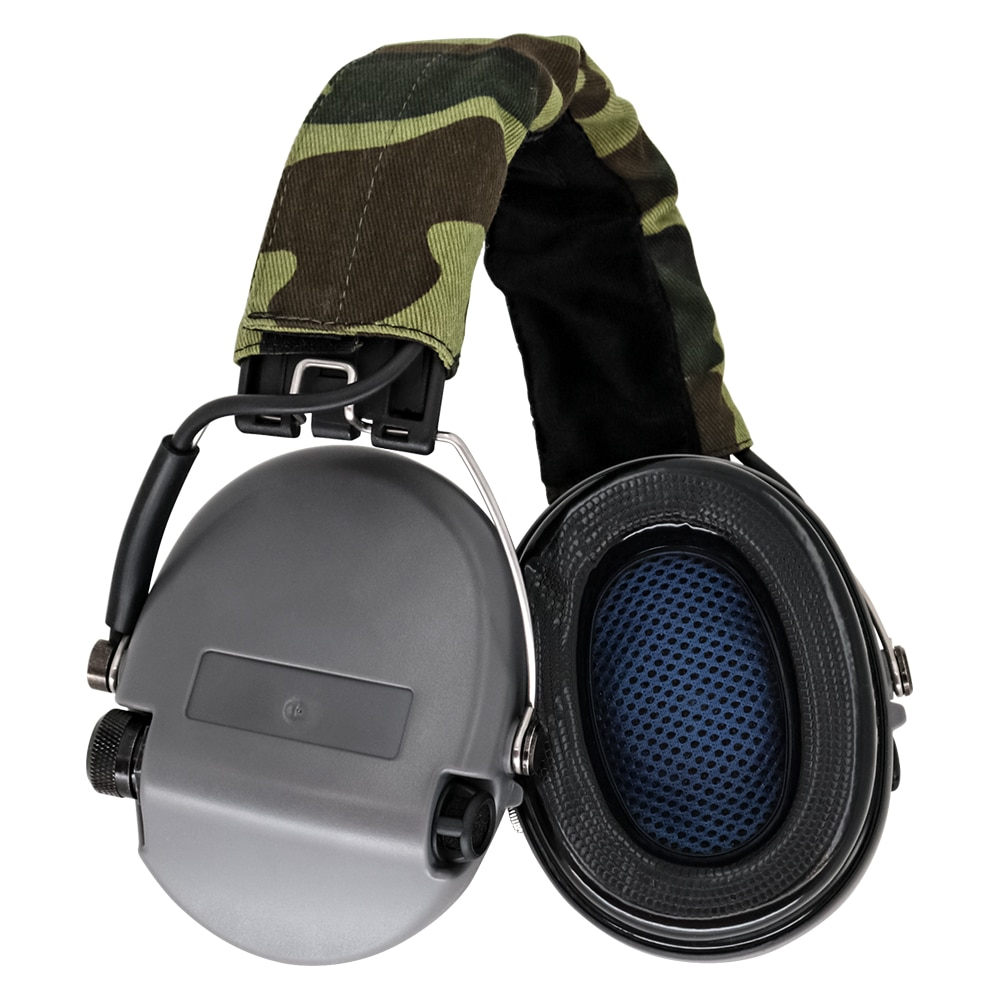 tci ipscheadsetTactical Headphones Standard Shooting Earmuffs Airsoft Outdoor Sports Tactical Headphones Without Microphone Gray enlarge