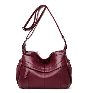 2019 Female Messenger Bag Sac A Main Crossbody Bags For Women Leather Shoulder Bag Bolsa Flap Bags Ladies Leather Handbags Sac