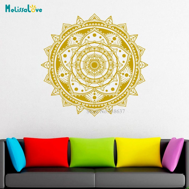 Datura-pegatinas de pared impermeables de mandala, de la pared Decoración Arte, impermeables,...