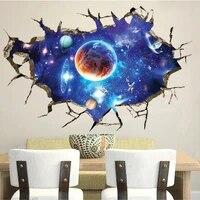 Autocollant mural decoratif a effet 3D de ciel etoile  facile a appliquer  pour la maison  le salon  cadeau a la mode