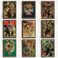 japanese anime wall art canvas painting jojo bizarre adventure home room decoration wall pictures nordic one piece poster prints