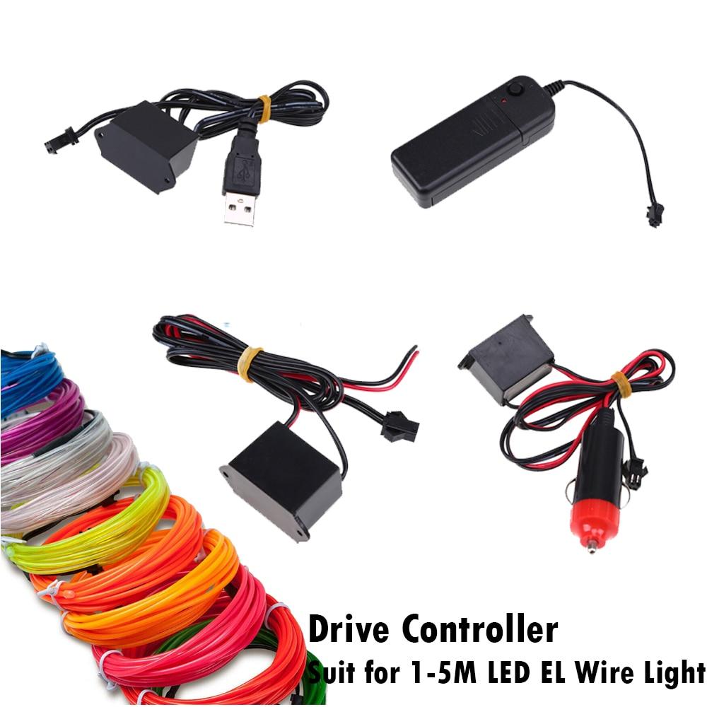 Neon light car Drive Controller Transformer for Car Led EL Wire/Tape Flexible Neon Decor Strip Lamp