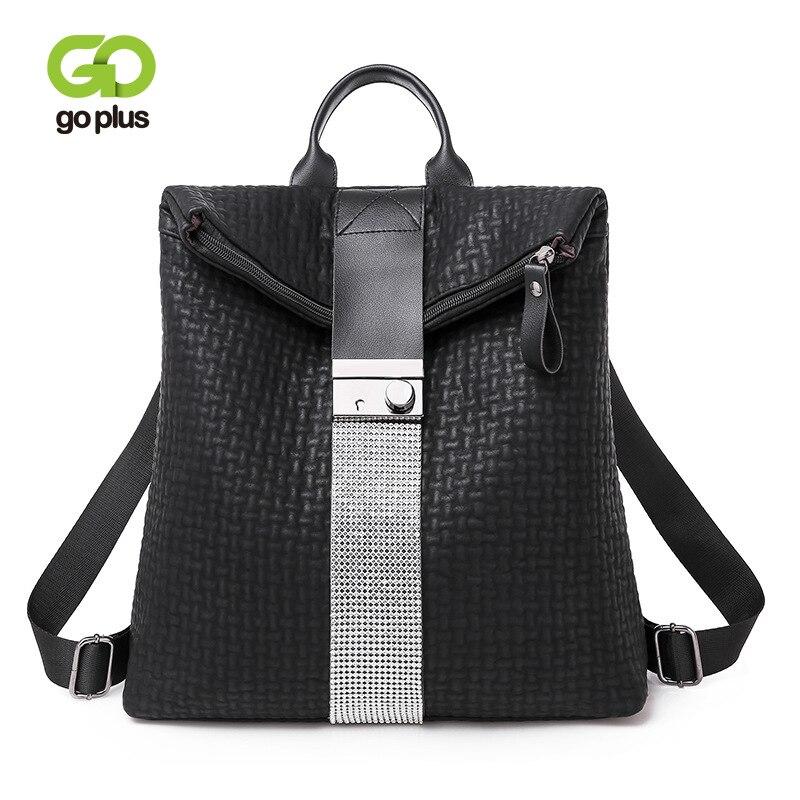 GOPLUS Women's backpack Travel Leather Shoulder Bag Large Capacity Backpack Vintage Designer Black Business bag New Retro Winter