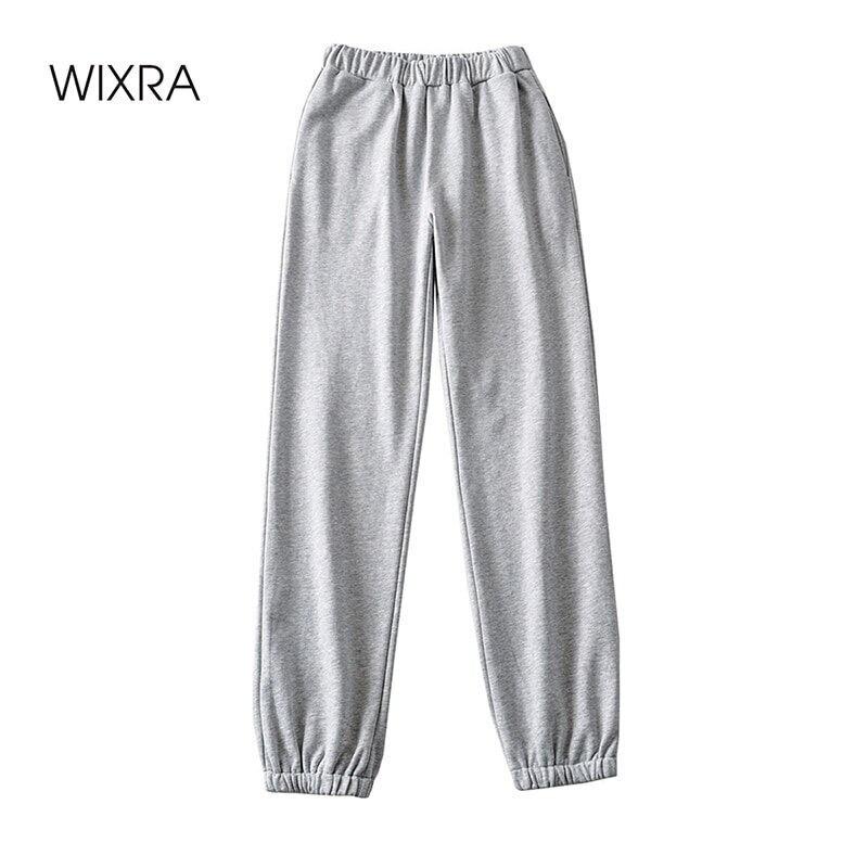سروال رياضي للركض للنساء من Wixra سروال مطاط للركض والرقص أساسي غير رسمي بجيوب للركض ملابس عصرية جديدة