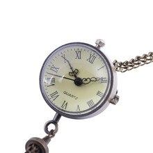 Personality Glass Ball Classic Roman Scale Bronze Pocket Watch Round Glass Ball Vintage Bronze Pocket Watch женские часы 50*