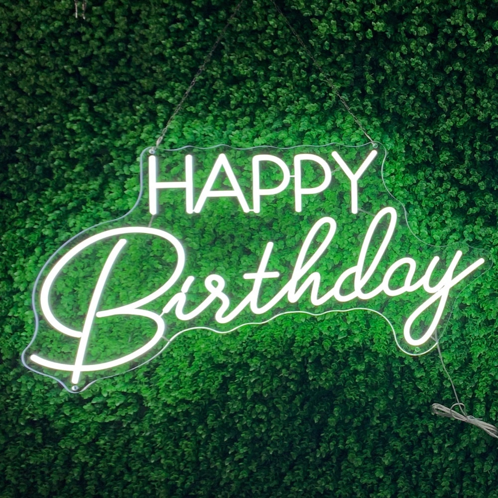 Customized led neon lights, happy birthday posters, decorative wall lights for parties, weddings, stores,windows and restaurants