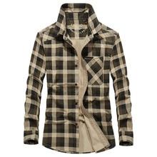 Marca camisa militar para hombres Casual de Otoño de manga larga solo Breasted Camiseta Hombre Camiseta de algodón purol de talla grande M-3XL