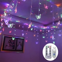 usbbattery low voltage romantic girl room decoration led butterfly icicle light lantern for christmas tree wedding party decora