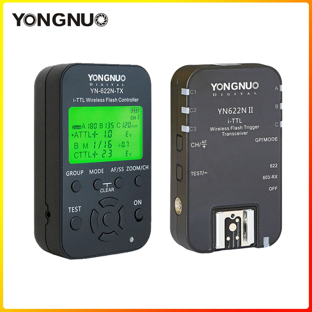YONGNUO i-TTL اللاسلكية فلاش تحكم الزناد YN622N II YN-622N-TX عدة مع عالية السرعة مزامنة HSS 1/8000s للكاميرا نيكون