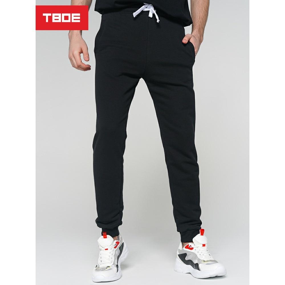 Спортивные брюки мужские TBOE 87% Хлопок 13% Полиэстер черный