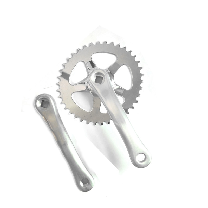Manivela y cadena de bicicleta G168 38T/152mm, cadena de aleación de aluminio, marcha única, plato de bicicleta de montaña