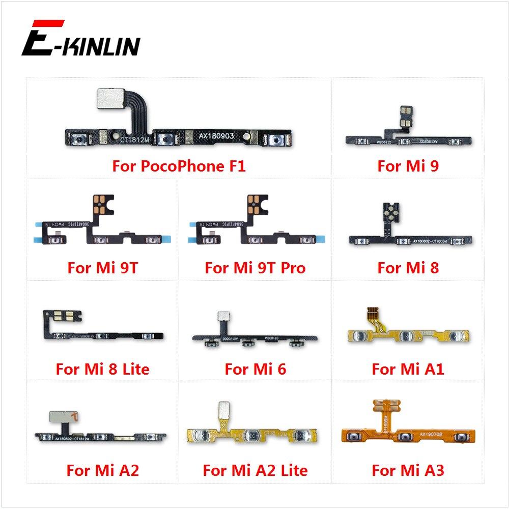 Volume Side Power Switch on off Button Key Flex Cable For XiaoMi Mi 9T Pro 9 8 A3 A1 A2 Lite Redmi 6 S2 PocoPhone F1 100% new for xiaomi mi 6 5 5c 5s plus 4 4c 4i 4s mix 2s max 3 2 power switch on off key volume button flex cable