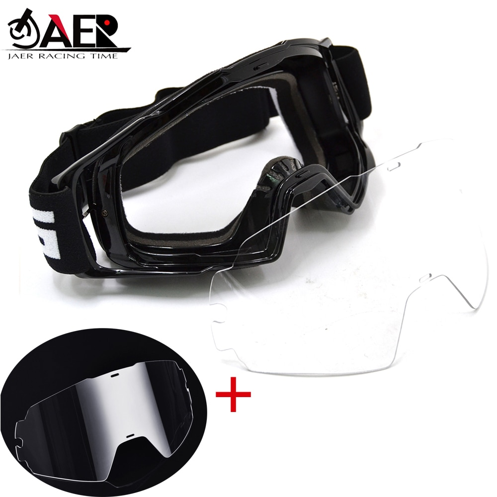 JAER Motocross Goggles Glasses Dirt Bike ATV Off Road Motorcycle Gafas 100% Moto Helmet Googles Anti Wind Eyewear MX Goggles