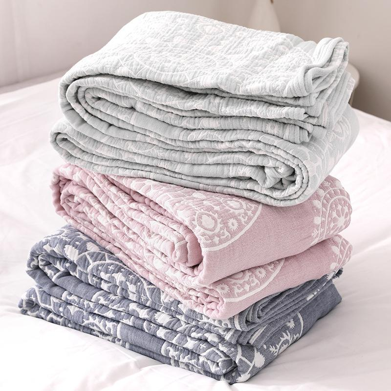 50 100% القطن الشاش بطانية السرير أريكة السفر تنفس شيك ماندالا نمط كبيرة لينة رمي بطانية الفقرة بطانية