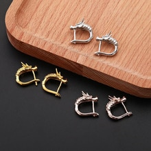 Punk Animal Dragon Stud Earrings Gold Silver Color Korean Men Women Studs Earring For Male Female Pa
