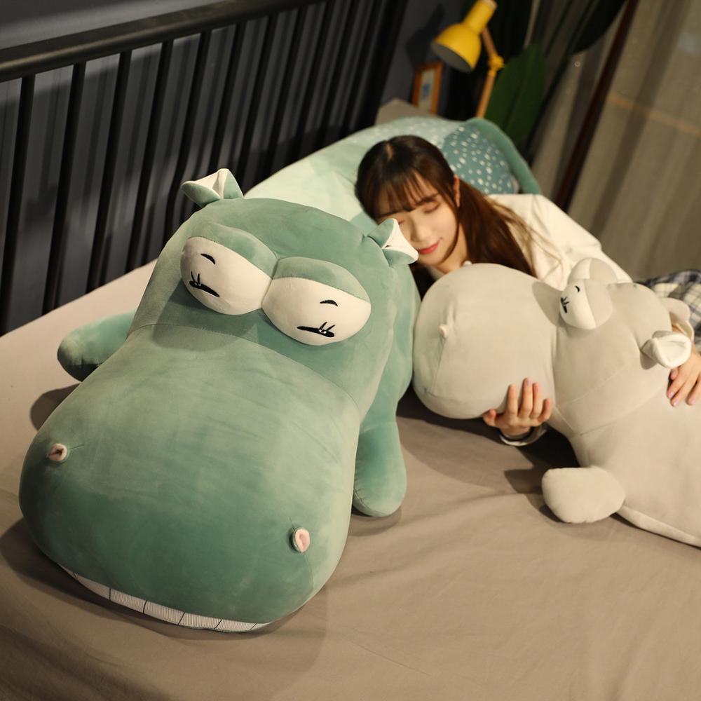 50/70 см Kawaii Hippo плюшевые куклы Мягкие Пуховые хлопковые подушки в виде животных милая игрушка подарок на день рождения Рождество для детей