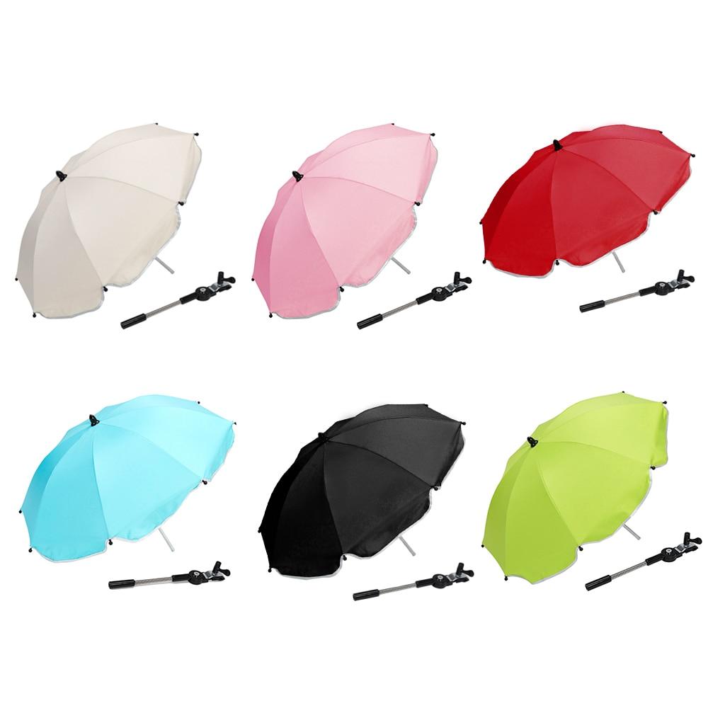 Фото - Универсальная коляска, зонт, коляска, коляска, чехлы от солнца, дождя, зонт, держатель с зажимом, детская коляска, аксессуары коляска