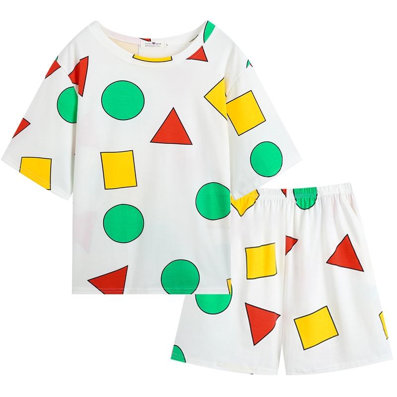 conjunto-de-pijama-sin-chan-para-mujer-ropa-de-dormir-de-verano-sinchan-pantalones-cortos-2021