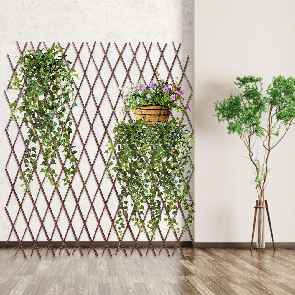 Cerca de madeira maciça durável retrátil flor grade planta quadro escalada treliça flor jardim decoração para casa suporte cerca do jardim