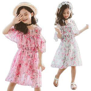 Girls Flowers Dresses Summer Girls Chiffon Dresses Girls Bohemian Dresses Girls Beach Dresses Children Floral Dress Girls Dress