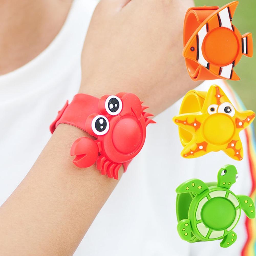 Cartoon Silicone Kids Adjustable Mosquito Repellent Bracelet Wristband Plant Essential Oil Diffuser Bracelet Pest Control