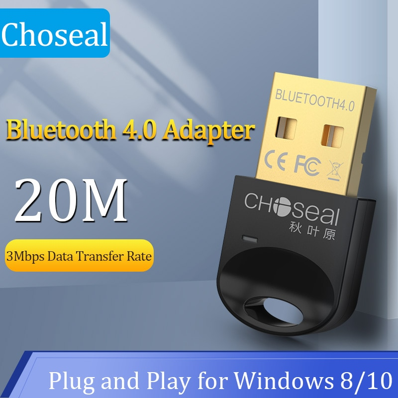Choseal USB Bluetooth Adapter for PC 4.0 Bluetooth Dongle Receiver For Windows 10/8.1/8/7/XP for Desktop Laptop Mouse Keyboard