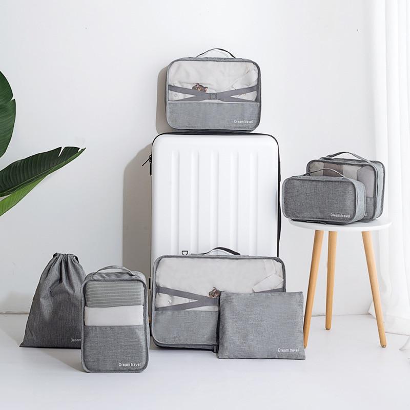 Men Travel Storage Bags Clothes Shoes Underwear Suitcase Organizer Cosmetics Zipper Pouch Home Wardrobe Luggage Accessories