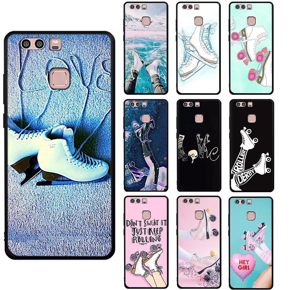 Funda de teléfono blanda para zapatos de patinaje sobre hielo para Huawei P8 P9 P10 P20 P30 P40 Mate 30 10 20 Pro Lite P Smart