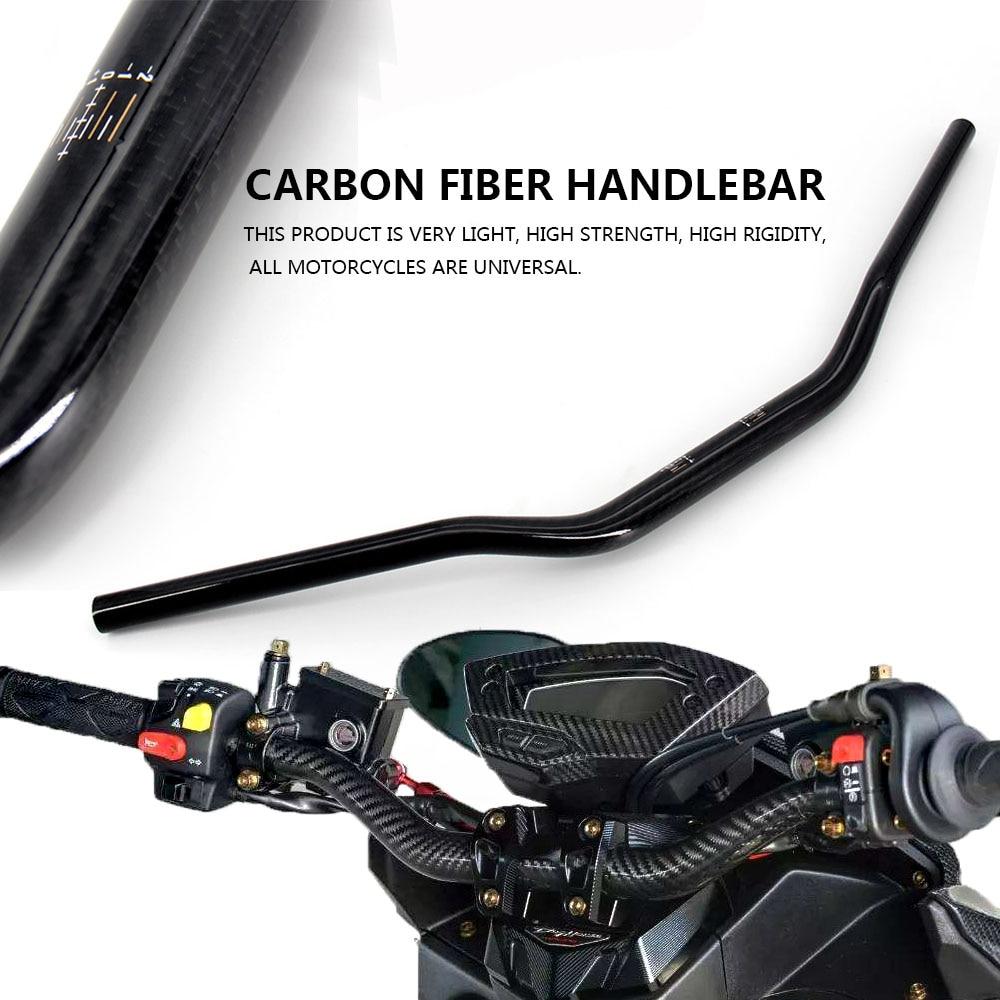 Руль из углеродного волокна для мотоцикла, руль из углеродного волокна для мотоцикла, руль из углеродного волокна 22 мм