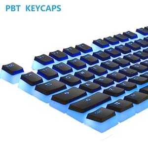 Колпачки для клавиш PBT, колпачки для клавиш пудинга, набор для клавиш с двойной подсветкой и съемником для Cherry MX, игровая механическая клавиатура «сделай сам» с черными/белыми колпачками