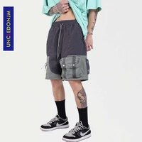uncledonjm colour block pocket shorts men high street streetwear pants mens shorts techwear summer punk pants men shorts 8770