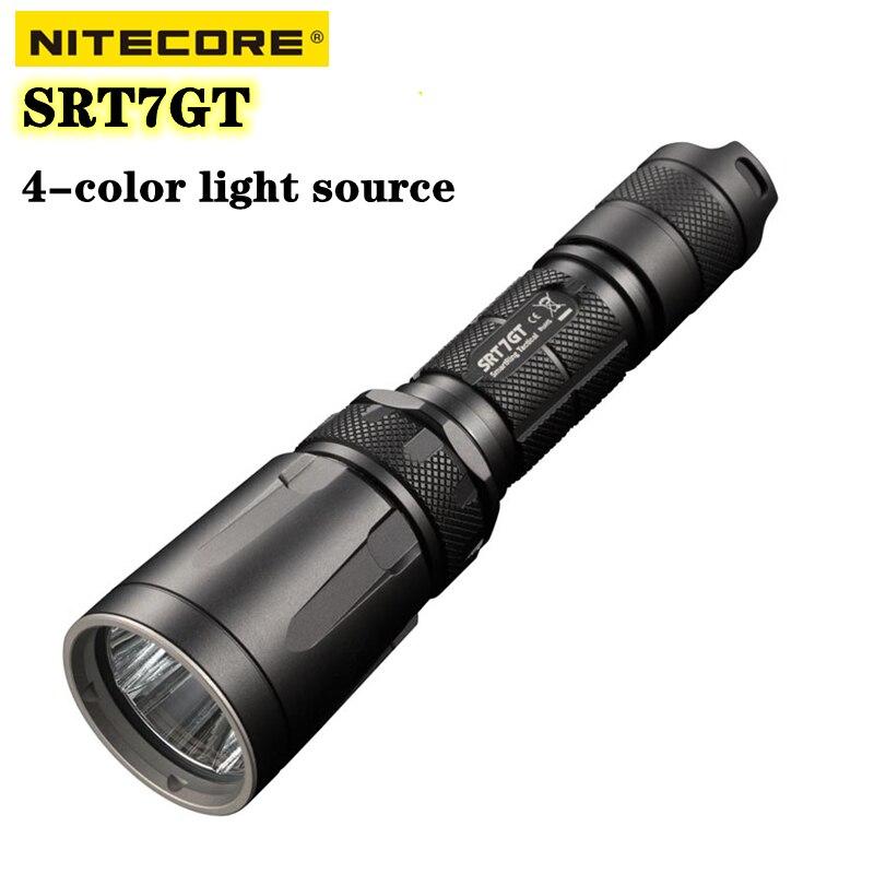 nitecore srt7gt glar lanterna 1000lumens alta 0utput 4 cor fonte de luz 7 modos especiais