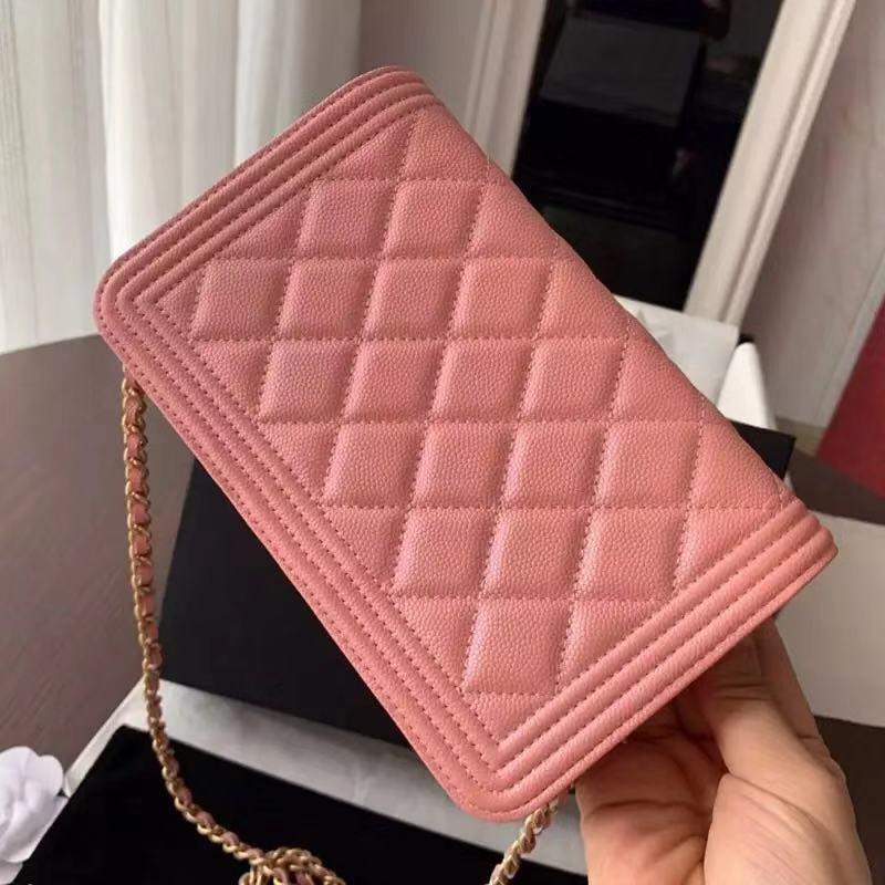 Bolsos de diseño de lujo para mujer, bandolera de cuero auténtico caviar, bolso de marca de diseñador, bolsos de hombro con solapa de calidad 11
