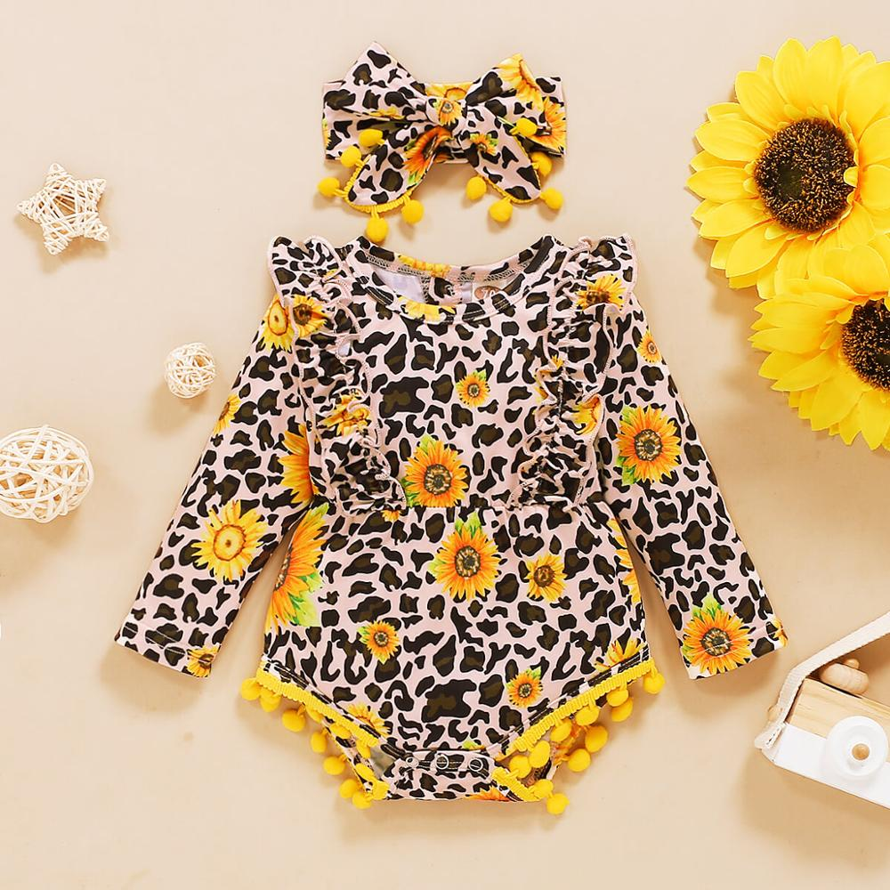 Newborn Baby Set Free Shipping Baby Girl Onesie Rompers Cartoon Floral Strawberry Leopard Baby Girls Long Sleeve Romper Jumpsuit