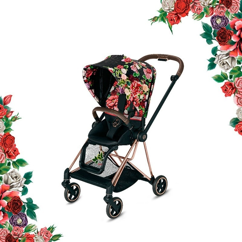 High-view Baby Stroller Can Sit and Lie Stroller Stylish Easy To Fold and Light Travel Stroller  Baby Bassinet