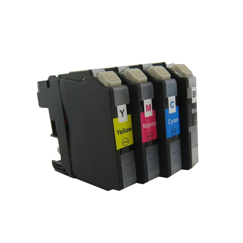 LC123BK LC123 LC123XL cartuchos de tinta MFCJ4710DW MFCJ470DW MFCJ6920DW MFCJ870DW MFCJ245 MFCJ650DW impresora de inyección de tinta
