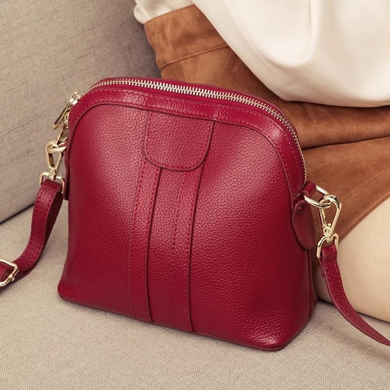 حقيبة كتف نسائية من الجلد الطبيعي ، حقيبة يد فاخرة ، مصممة ، حقيبة كتف صغيرة